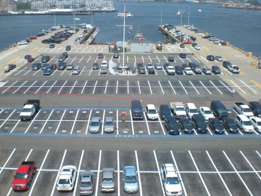 harbor parking lot marking