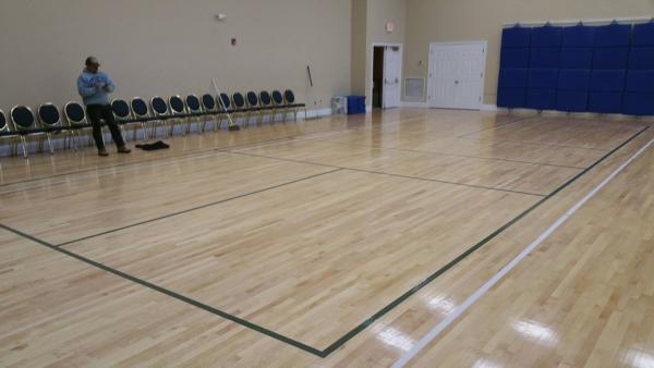 indoor pickleball court marking