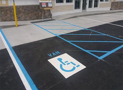 handicap parking spot marking
